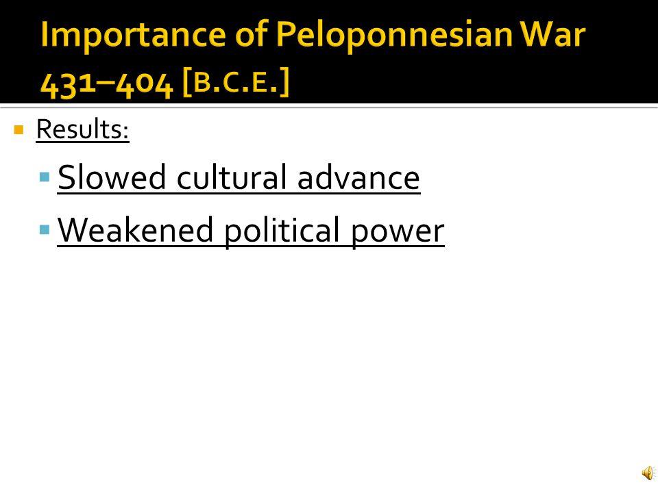 Importance of Peloponnesian War 431–404 [b.c.e.]